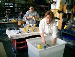 ewa-marine underwater housing are test in the factory