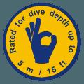 dive depth 5m